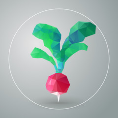 Vector isolated geometric radish triangles