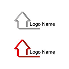 house logo. Real estate and home. building