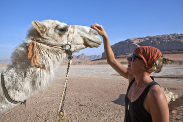 Camel and Woman