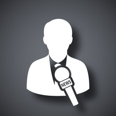 Vector news reporter icon
