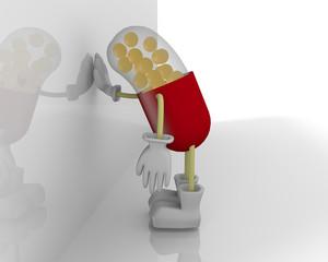 悩む薬のキャラクター