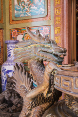 incense burner in chinese temple