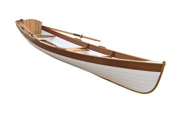 Canoe isolated on a white background