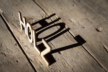 Buchstaben aus Holz bilden das Wort Holz