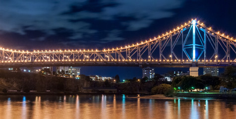 Brisbane, Story Bridge at night