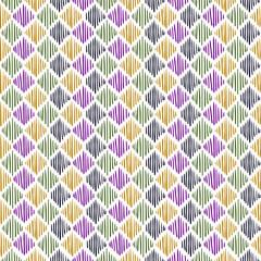Seamless pattern. Colorful schematic diamonds.