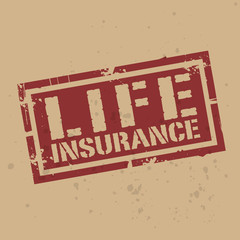 Abstract stamp or label with text Life Insurance, vector