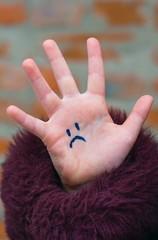 sad children's hand