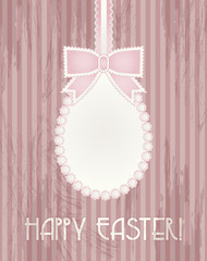 Happy Easter greeting card, vector illustration