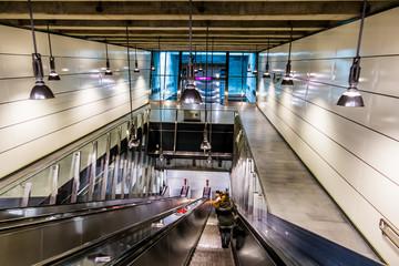Rollstreppe in U-Bahnstation