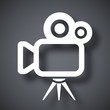 Vector movie camera icon - 80319827