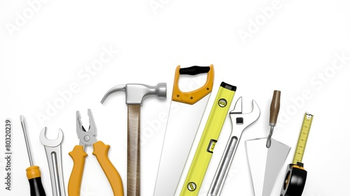 Various tools isolated on white background - 80320239