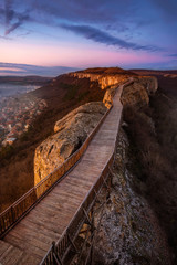 A view of the medieval fortress Ovech near Provadia, Bulgaria