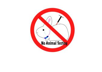 No animal testing sign icon
