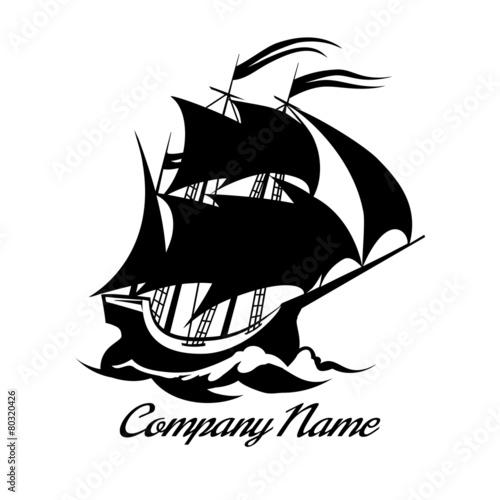 Fototapeta Sail boat logo icon