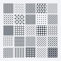 Geometric monochrome pattern set