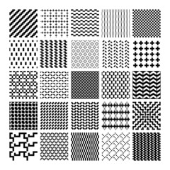 Monochrome geometric seamless patterns