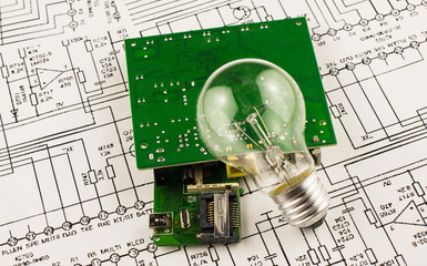 Incandescence  lamp and chip