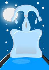Fuente de hielo