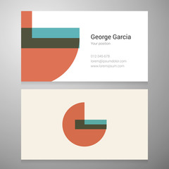 Vintage letter G icon business card template