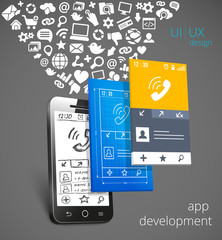 App development vector concept