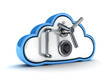 Leinwanddruck Bild - Cloud security