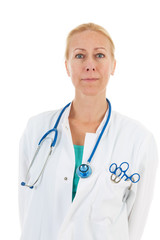 Portrait Physician with stethoscope
