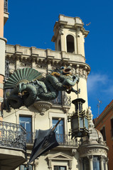 Chinese dragon on 19th century House of Umbrellas