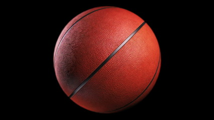 Basketball, loop seamless, isolated black backgraund