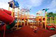 Leinwandbild Motiv Children Outdoor Playground in Selangor, Malaysia