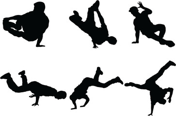Set of Dance silhouette