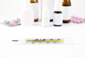 Thervometer and the medications