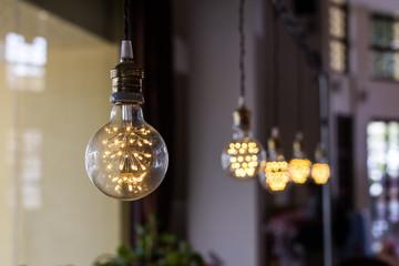 light bulbs decorated