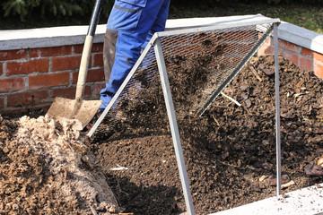 Kompostierung, Kompostsieb