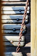 Scaletta a pioli con catena