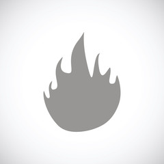 Fire black icon