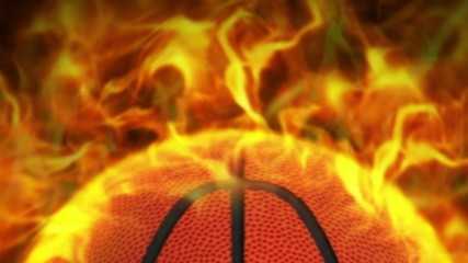 Fiery Basket Ball Background and Flames