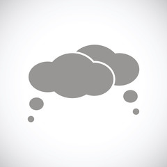 Clouds black icon