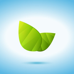Fresh leaves colored icon