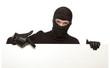 Burglar, ninja isolated
