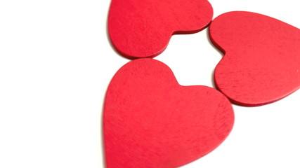 Rote Herzen rotieren
