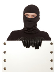 Burglar, ninja isolated