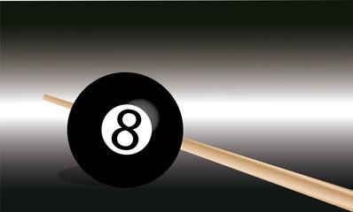 sfondo palla nera 8 biliardo