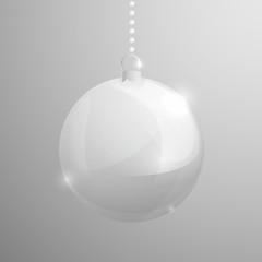 Transparent shining glass christmass ball