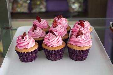 Cupcake aux fraises, Bali