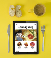 tablet breakfast cooking blog