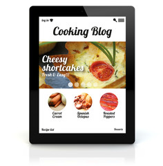 tablet pc cooking application