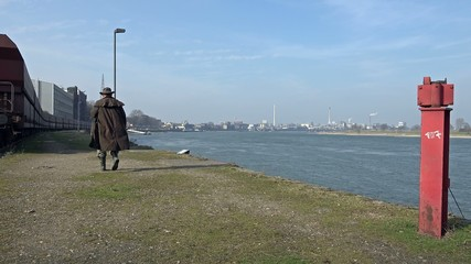 Angler at Krefeld harbour - Germany