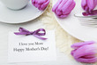Mothers day card with table setting - 80327204