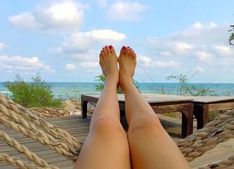 feet touch the sky